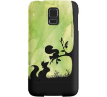 Woodland Shadows - Fox and Squirrel:Spring Samsung Galaxy Case/Skin
