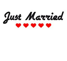 Just Married Heart Design by Style-O-Mat