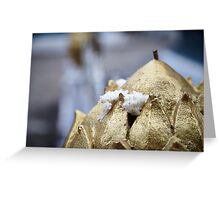 Gold candle with offering Greeting Card