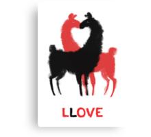 Llama Llove Canvas Print