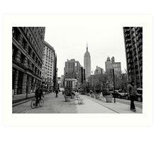 New York City streetscape Art Print