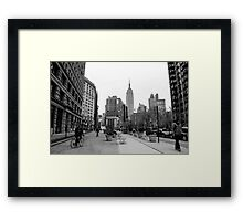 New York City streetscape Framed Print