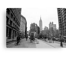 New York City streetscape Metal Print