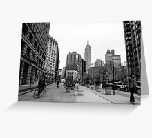 New York City streetscape Greeting Card