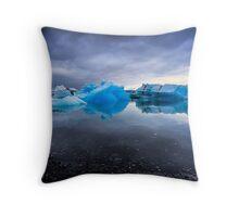 Sunset Lagoon: Glaciers at Jökulsárlón, Iceland Throw Pillow