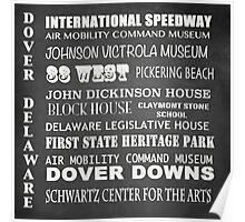 Dover Famous Landmarks Poster