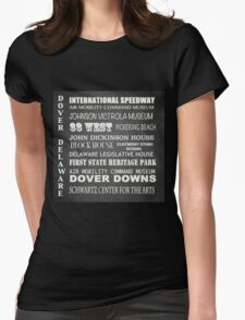 Dover Famous Landmarks Womens Fitted T-Shirt