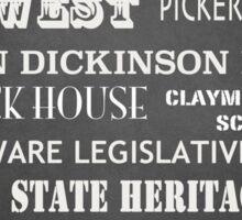 Dover Famous Landmarks Sticker