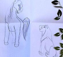 Sketch of Friendship by bumper22