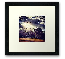 Don't believe in heaven above Framed Print