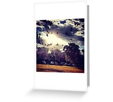 Don't believe in heaven above Greeting Card