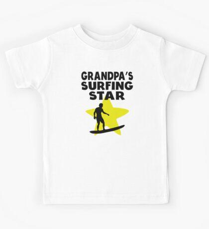 Grandpa's Surfing Star Kids Tee