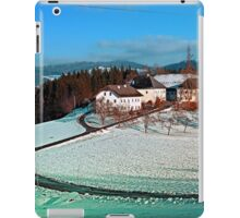 Village scenery in winter wonderland | landscape photography iPad Case/Skin