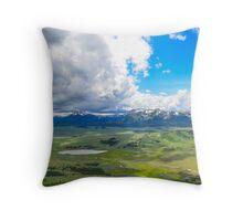Peak of Mt. Bunsen, Yellowstone Natl. Park Throw Pillow