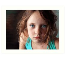 The day she was sick and didn't want to smile Art Print