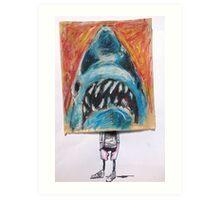 Paper Bag Jaws Head Art Print