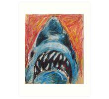 Paper Bag Jaws Art Print