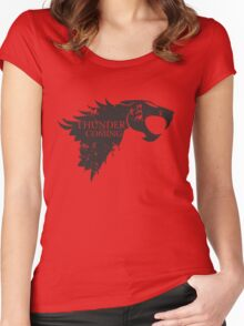 Thundercats is coming Women's Fitted Scoop T-Shirt