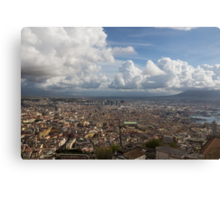 Spaccanapoli - the Historic Main Street That Divides the Center of Naples, Italy Canvas Print