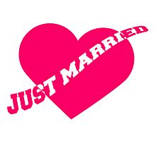 Just Married Heart by Style-O-Mat