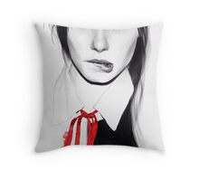 Red ribbon Throw Pillow