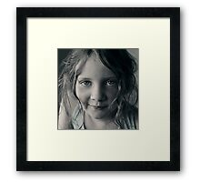 And then she smiled after all ... Framed Print