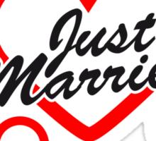 Just Married Design Sticker