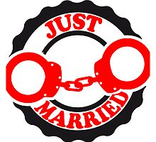 Just Married Bachelor Party Stamp by Style-O-Mat
