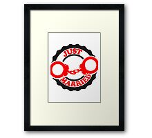 Just Married Bachelor Party Stamp Framed Print