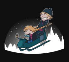 A Snowy Ride One Piece - Short Sleeve