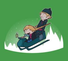 A Snowy Ride Kids Clothes
