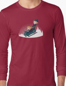 A Snowy Ride Long Sleeve T-Shirt