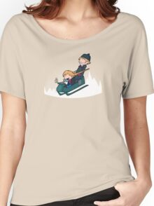 A Snowy Ride Women's Relaxed Fit T-Shirt