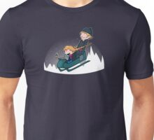 A Snowy Ride Unisex T-Shirt