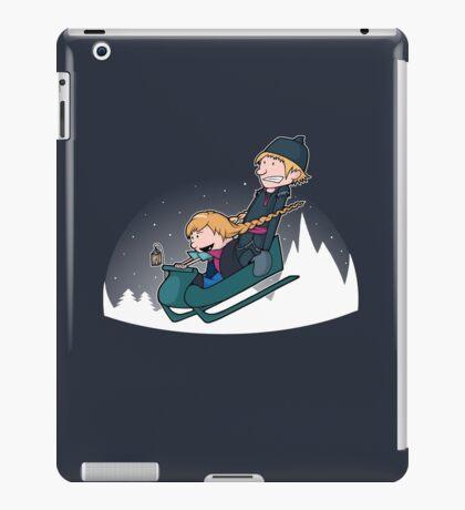 A Snowy Ride iPad Case/Skin