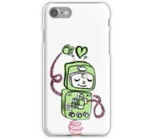 Valentine's Day Robot Green Pink iPhone Case/Skin