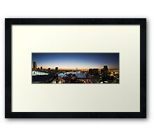 Docklands Panorama Framed Print