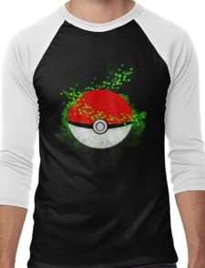 Pokeball Grass Type Pokemon (All pure grass type pokeball) Men's Baseball ¾ T-Shirt