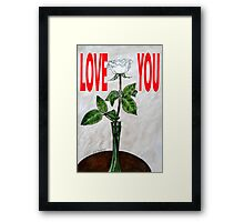 LOVE YOU 16 Framed Print
