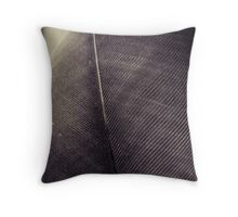Feather close up Throw Pillow