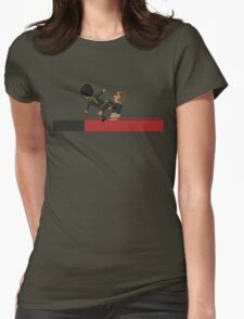 Kung Fu Kick Womens Fitted T-Shirt