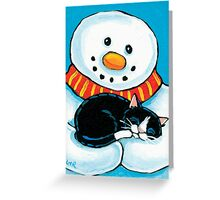A Comfy but Chilly Place to Sleep Greeting Card