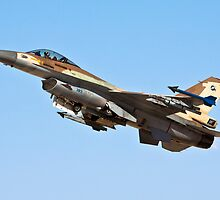 Israeli Air Force (IAF) F-16C (Barak) Fighter jet in flight by PhotoStock-Isra