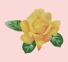 Yellow Rose One Piece - Short Sleeve