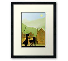 Childhood Dreams, The Pram Framed Print