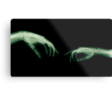 The Creation of Adam (Michelangelo) two hands under x-ray Metal Print