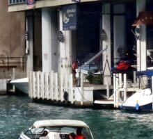 Chicago IL - Motorboat Near Dearborn Street Bridge Sticker