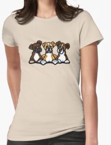 Three Boxers Womens Fitted T-Shirt