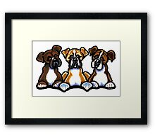 Three Boxers Framed Print