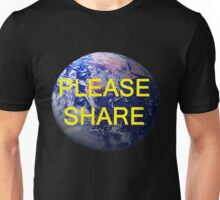 Please Share, T Shirts & Hoodies. ipad & iphone cases Unisex T-Shirt